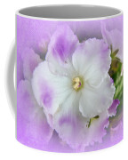 Purple And White Fancy African Violets Coffee Mug