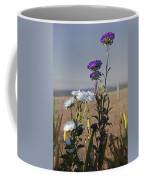 Purple And White Flowers In The Sun Coffee Mug