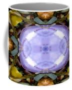 Purple Clam Shell Mandala Yantra Coffee Mug by Marie Jamieson
