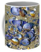 Purple Clam Shells On A Beach Coffee Mug