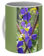 Purple Clematis Clinging On A Fence Coffee Mug