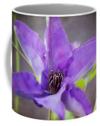 Purple Clematis Close Up Coffee Mug