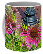 Purple Coneflowers By Former Railroad Depot In Pipestone-minnesota Coffee Mug