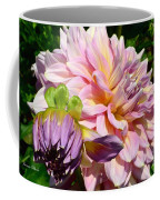 Purple Dahlia With Bud Coffee Mug