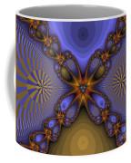 Purple  Flower Fractal Coffee Mug