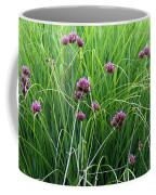 Purple Flowers And Grasses Coffee Mug