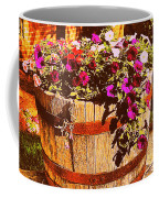 Purple Flowers In Rusty Bucket Coffee Mug