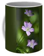 Purple Geranium Flowers Coffee Mug