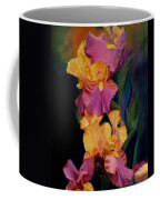 Purple Gold Irises  Coffee Mug