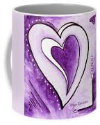 Purple Heart Love Painting Pop Art Blessed By Megan Duncanson Coffee Mug by Megan Duncanson