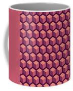 Purple Hexagonal Pattern Coffee Mug