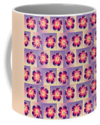 Purple Hibiscus Pattern Coffee Mug