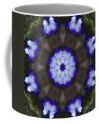 Purple Iris Kaleidoscope Coffee Mug