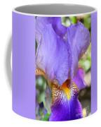 Purple Iris Macro Coffee Mug