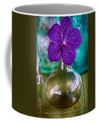Purple Orchid In Vase Coffee Mug