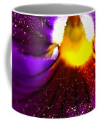 Purple Pansy Detail Coffee Mug