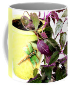 Purple Passion And Dragonfly Pot Coffee Mug