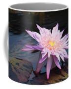 Purple Pink Yellow Waterlily... Coffee Mug