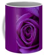 Purple Rose Close Up Coffee Mug