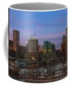 Purple Sky Above Downtown Baltimore Coffee Mug