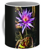 Purple Star Water Lily  By Diana Sainz Coffee Mug