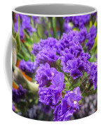 Purple Statice Flower Arrangement Coffee Mug