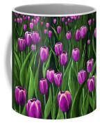 Purple Tulip Field Coffee Mug