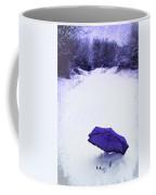 Purple Umbrella Coffee Mug by Amanda Elwell