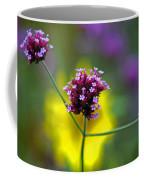 Purple Verbena Flowers Coffee Mug