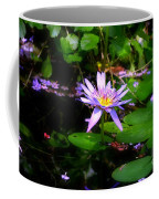Purple Water Lilly Coffee Mug