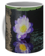 Purple White Yellow Lily Coffee Mug