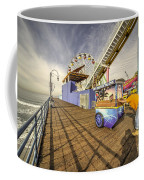 Pushing On The Pier Coffee Mug