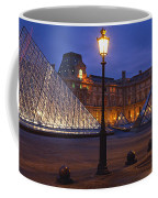 Pyramid At A Museum, Louvre Pyramid Coffee Mug