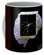 Pyramidal Neuron And Brain Coffee Mug