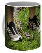 Python Snake In The Grass And Running Shoes Coffee Mug