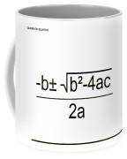 Quadratic Equation B-w Coffee Mug