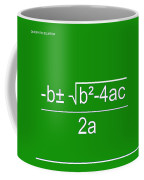 Quadratic Equation Green-white Coffee Mug