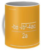 Quadratic Equation Orange-white Coffee Mug