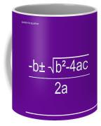 Quadratic Equation Violet-white Coffee Mug