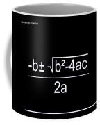 Quadratic Equation W-b Coffee Mug