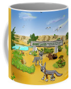 Quarry Lakes And Gray Foxes Coffee Mug