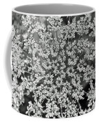 Queen Anne's Lace In Black And White Coffee Mug