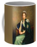 Queen Elizabeth II Portrait - Oil On Canvas Coffee Mug