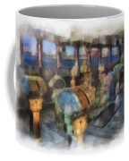 Queen Mary Ocean Liner Bridge 01 Photo Art 01 Coffee Mug
