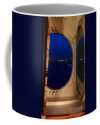 Queen Mary Port Hole Night  Coffee Mug