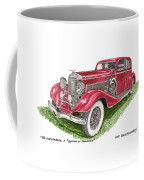Queen Of Diamonds 1933 Duesenberg Model J Coffee Mug