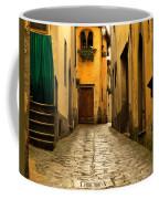 Quiet Lane In Tuscany 1 Coffee Mug