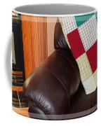 Quilt Beside A Fireplace Coffee Mug