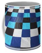 Quilt Blue Blocks Coffee Mug by Barbara Griffin