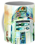R2-d2 Watercolor Portrait Coffee Mug